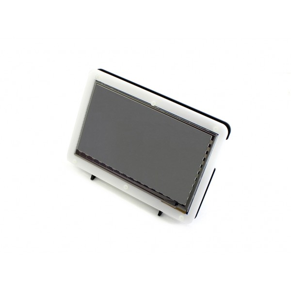 Waveshare 7 inch HDMI TFT-LCD (C) Display IPS 1024*600 pixels met Touchscreen en Behuizing - Raspberry Pi Compatible