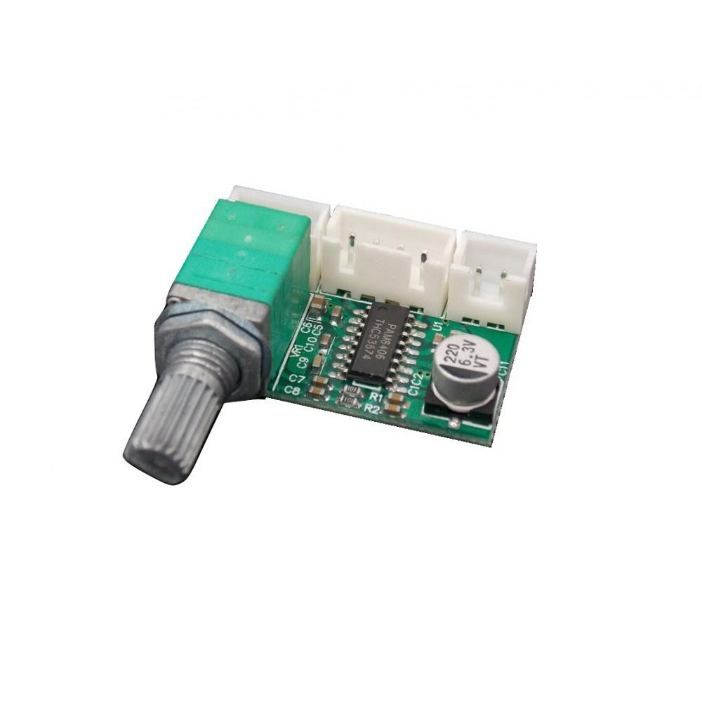 2x6W Stereo Audio Amplifier Mini 5V PAM8406 Volume Control - SWPAM8406VC
