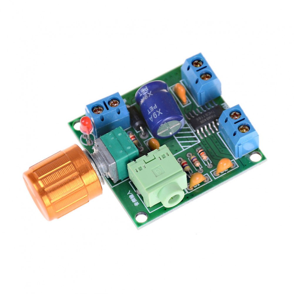 2x6w Stereo Audio Amplifier Mini 5v Pam8406 Volume Control With How To Wire A Switch Screw Terminals