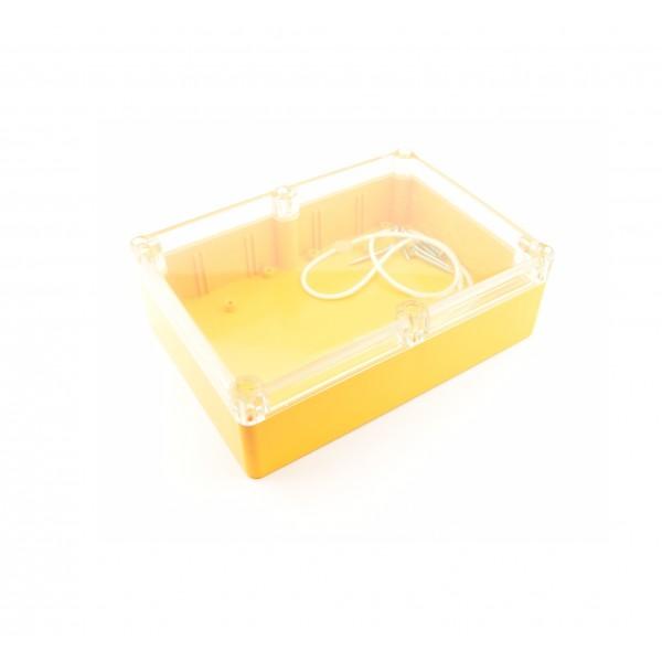 Kradex Enclosure 176x126x57mm - IP65 - Yellow - Transparent - Z74H