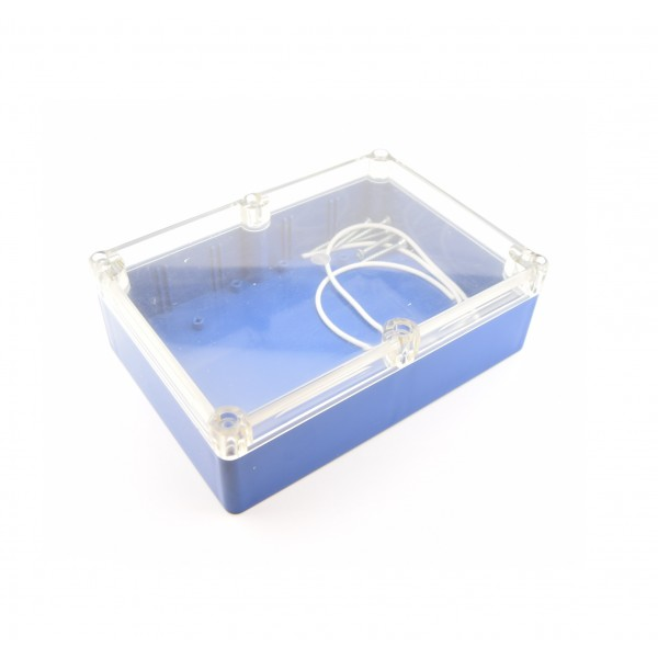 Kradex Enclosure 176x126x57mm - IP65 - Blue - Transparent - Z74H