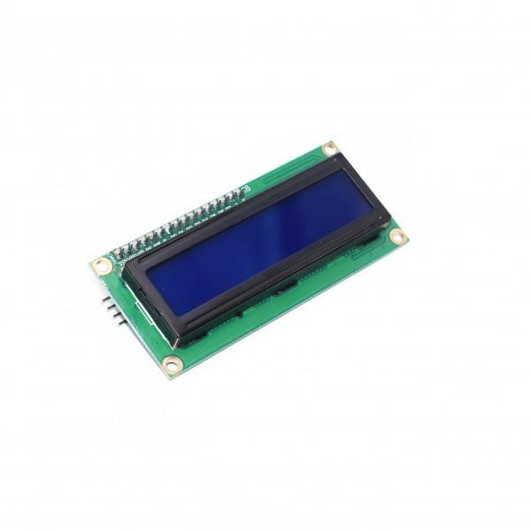 LCD Display 16*2 characters with white text and blue backlight - With I2C Backpack