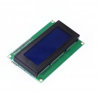 LCD Display 20*4 characters with white text and blue backlight - With I2C Backpack