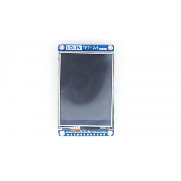 Wemos 2.4 inch TFT Shield voor D1 Mini - Met Touchscreen