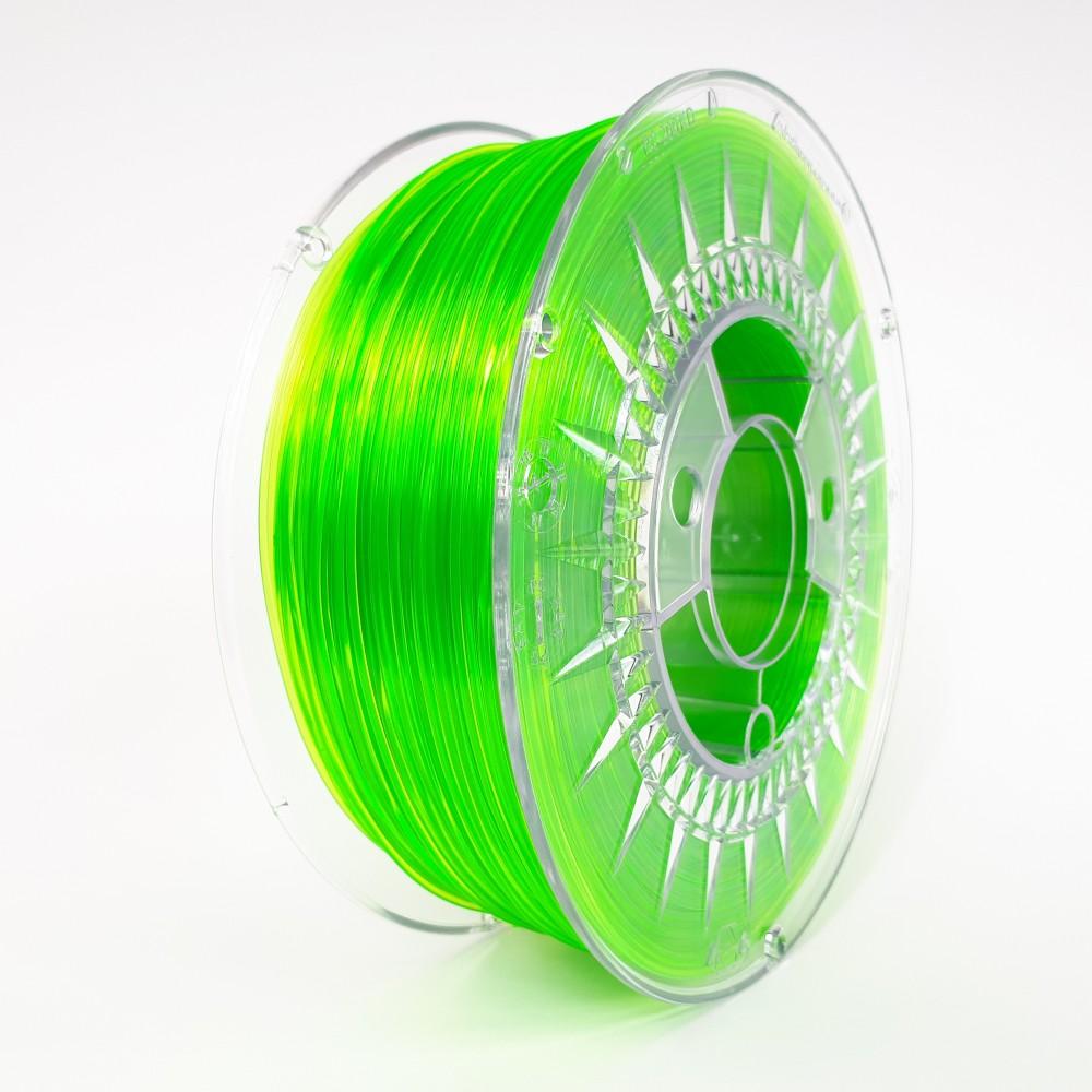 Devil Design PETG Filament 1.75mm - 1kg - Bright Green Transparent
