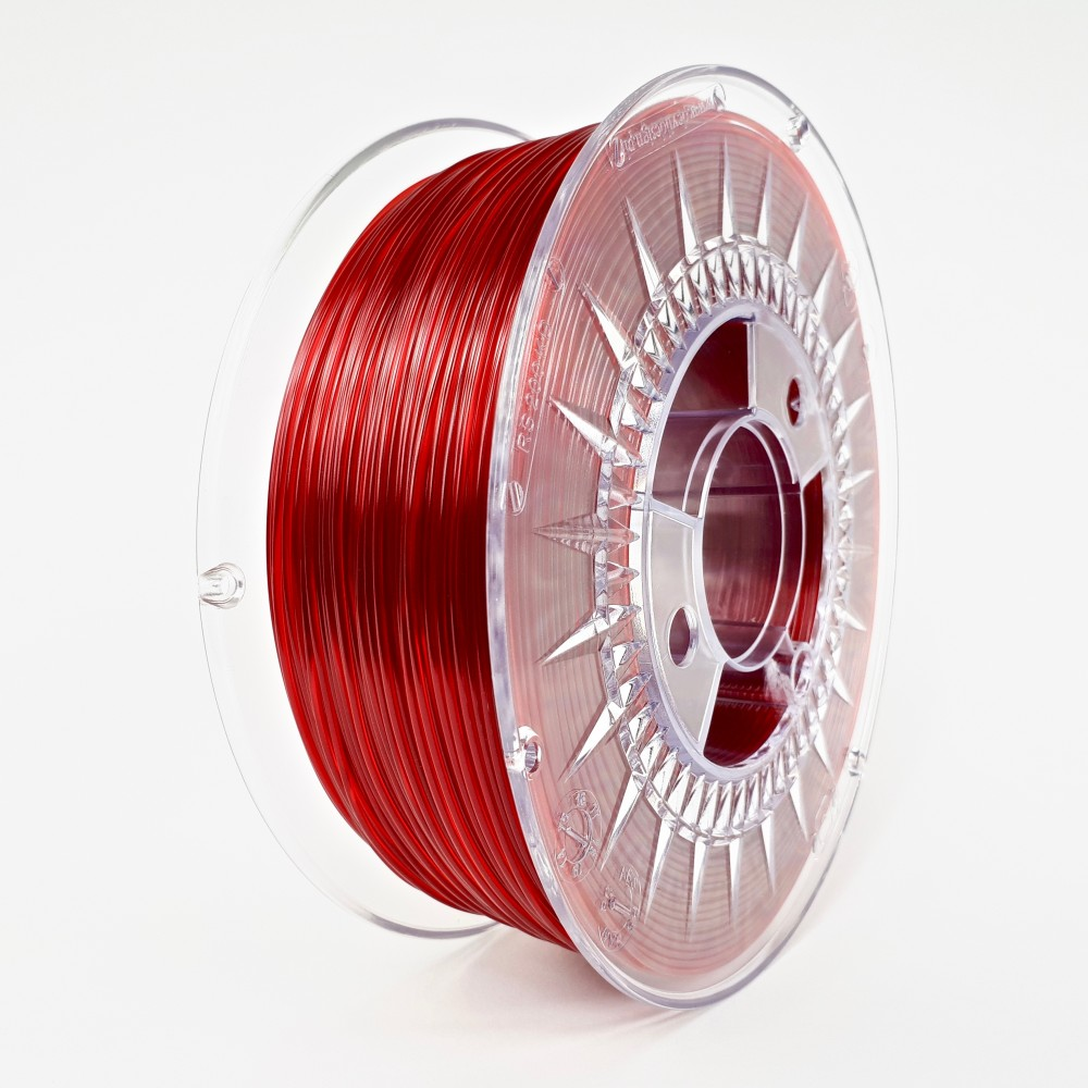 Devil Design PETG Filament 1.75mm - 1kg - Ruby Red Transparent