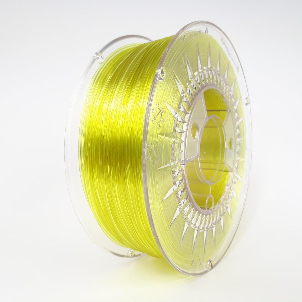 Devil Design PETG Filament 1.75mm - 1kg - Bright Yellow Transparent