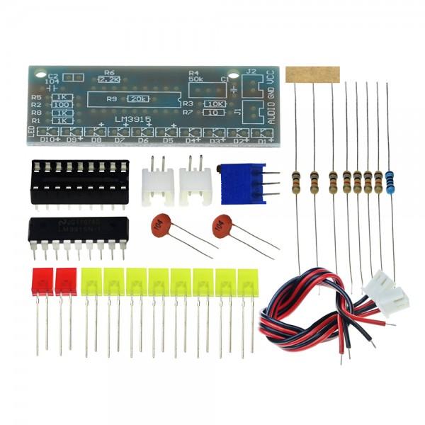 LM3915 LED Audio Level Indicator - DIY Kit