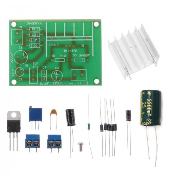 LM317 Verstelbare Spanningsregelaar Module - Cermet Potmeter- DIY Kit