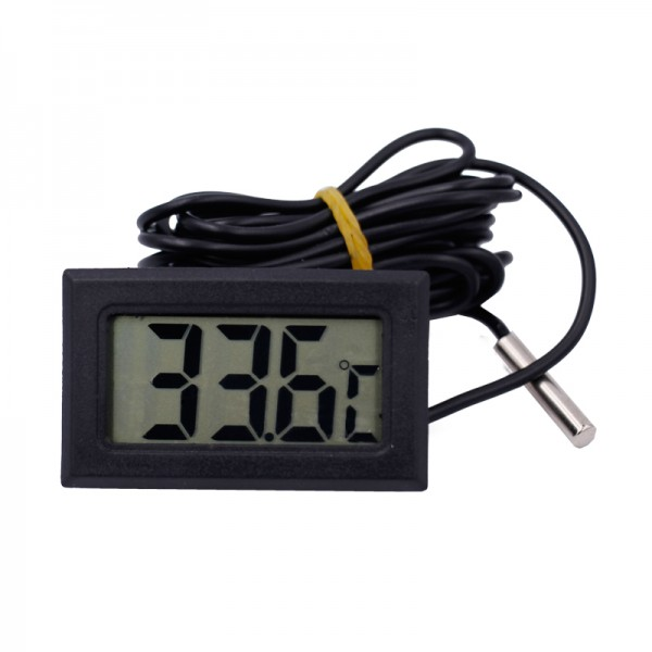Temperature Sensor with Display - Black