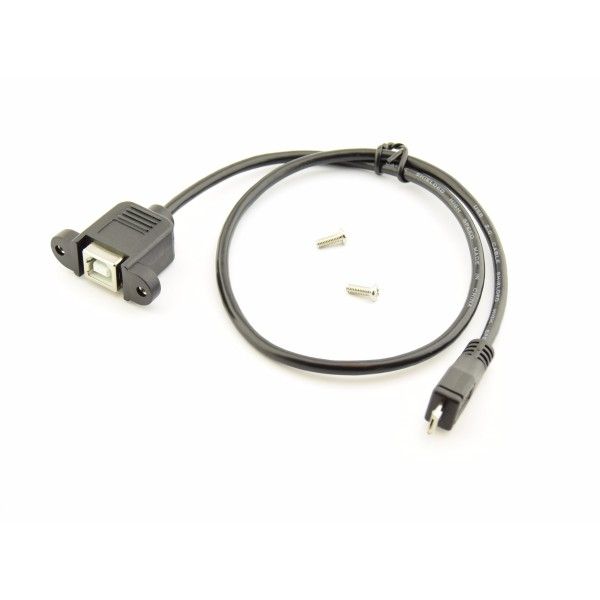 Micro USB - USB-B Extention Cable with Mount 50cm