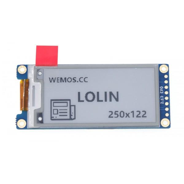Wemos 2.13 inch E-Ink E-Paper Display