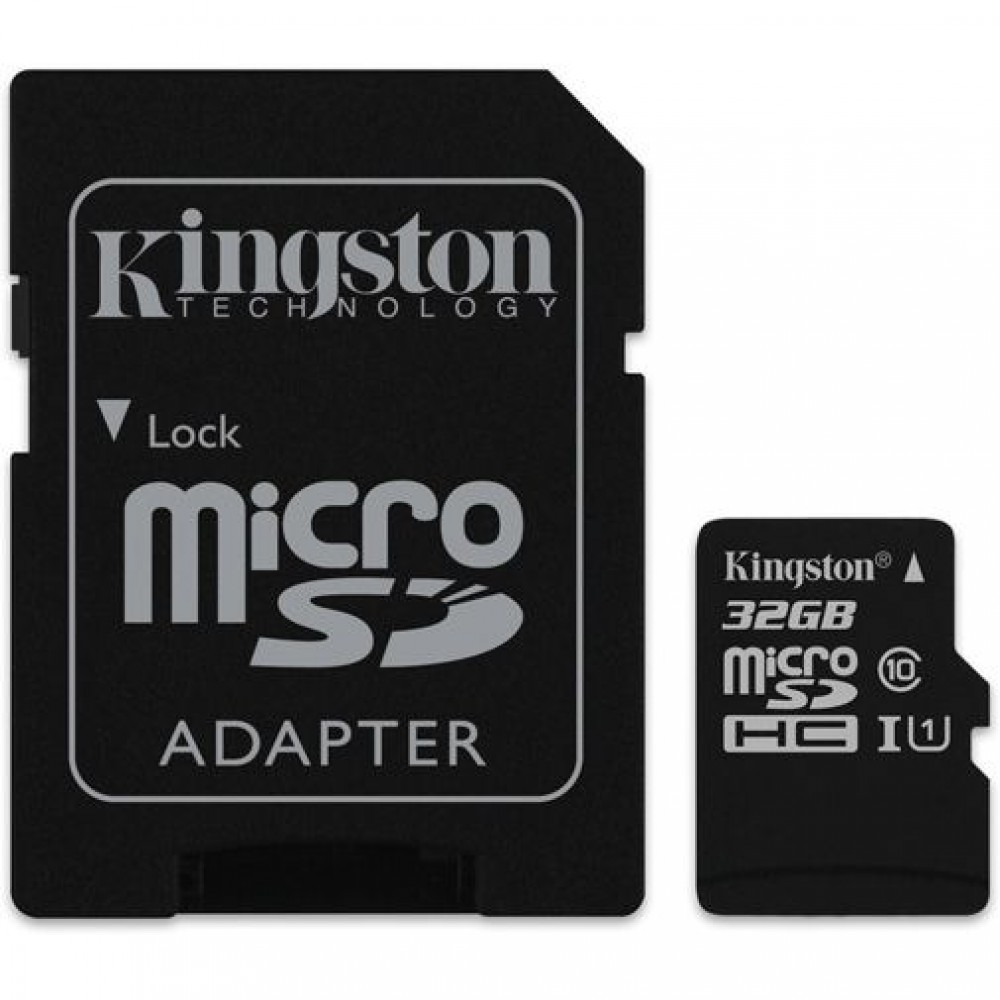 Kingston Canvas Select 32GB Class 10 UHS-I microSD kaart met SD-kaart adapter