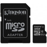 Kingston Canvas Select 32GB Class 10 UHS-I microSD card with SD-kaart adapter