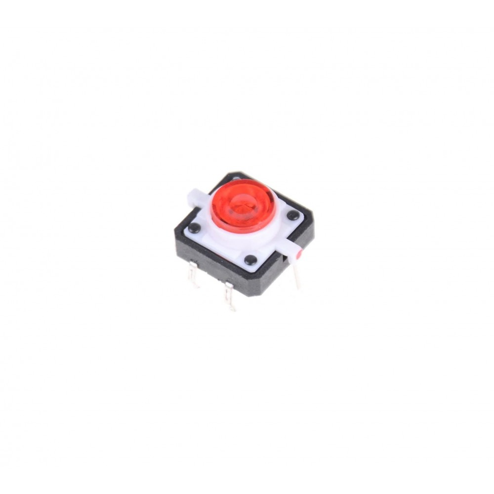 Tactile Pushbutton Switch 4 Pin - Met Rode LED Verlichting