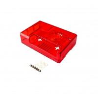 Raspberry Pi 2-3(B) Behuizing - Rood Transparant - Optie voor Ventilator
