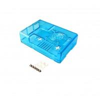 Raspberry Pi 2-3(B) Behuizing - Blauw Transparant - Optie voor Ventilator