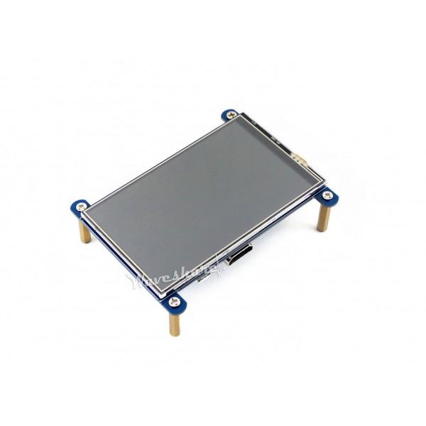 Waveshare 4 inch HDMI IPS-TFT-LCD Display IPS 800*480 pixels met Touchscreen - Raspberry Pi Compatible