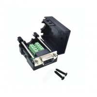 DB9 RS232 Connector Breakout Board with Enclosure - Female
