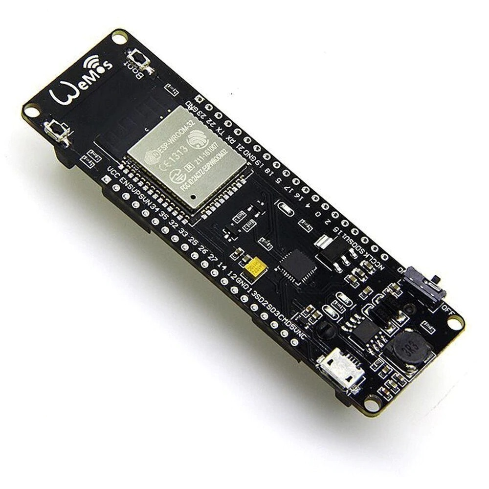 ESP32 WiFi en Bluetooth Board met 18650 Batterij Houder - CP2102