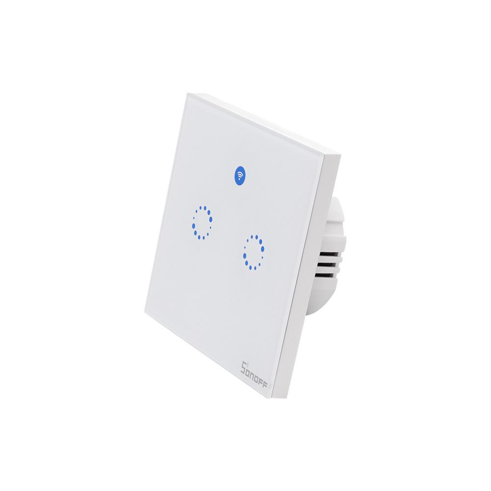 Sonoff T1 EU - 2 Schakelaars - WiFi en 433Mhz RF