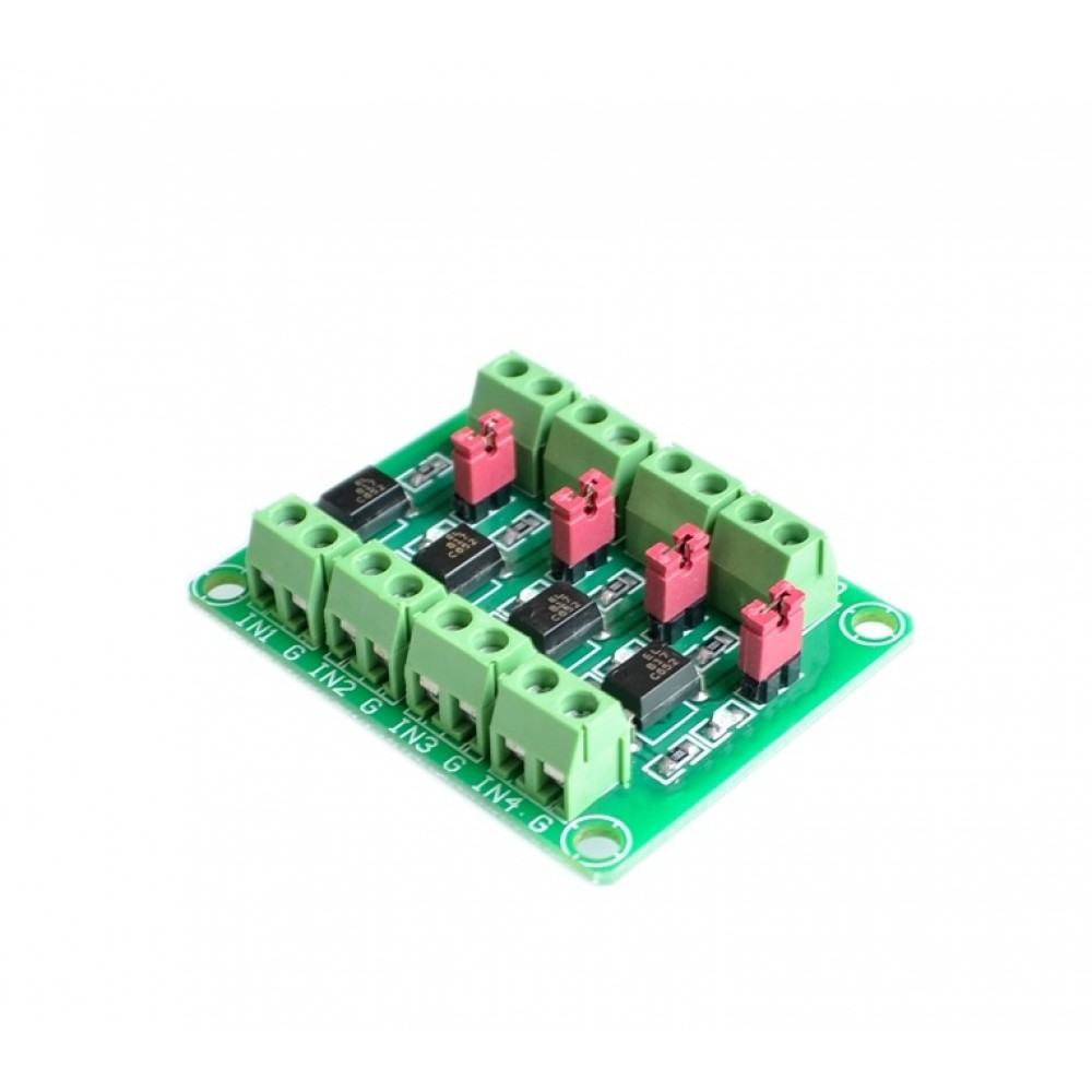 Optocoupler Isolatie Module - 4 Kanalen
