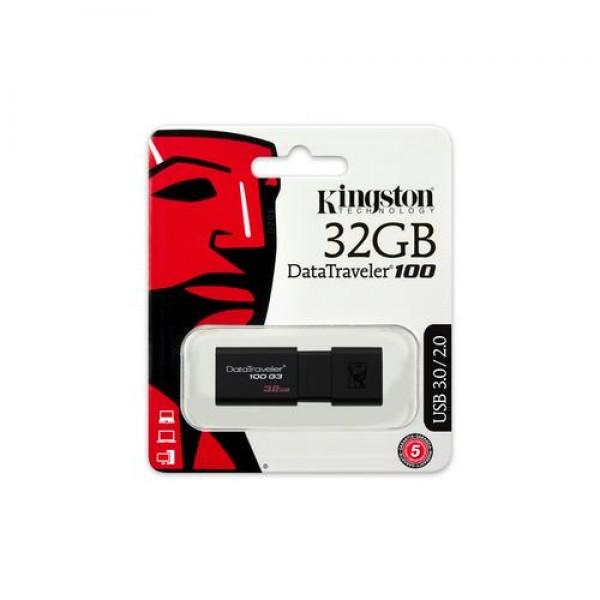 Kingston DataTraveler 100 G3 32GB USB Stick - Zwart