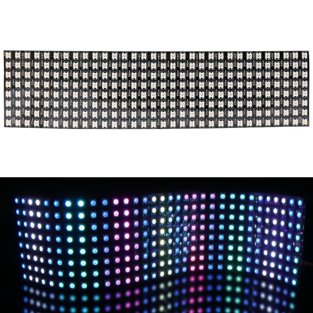 WS2812B Digitale 5050 RGB LED - Matrix 32x8 - Flexible