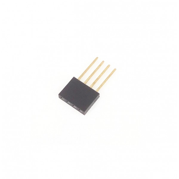 4 Pins header Female - 11mm Pin hoogte