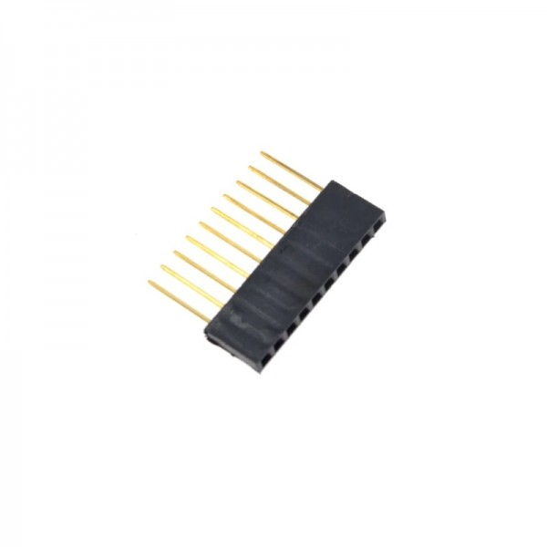10 Pins header Female - 11mm Pin hoogte
