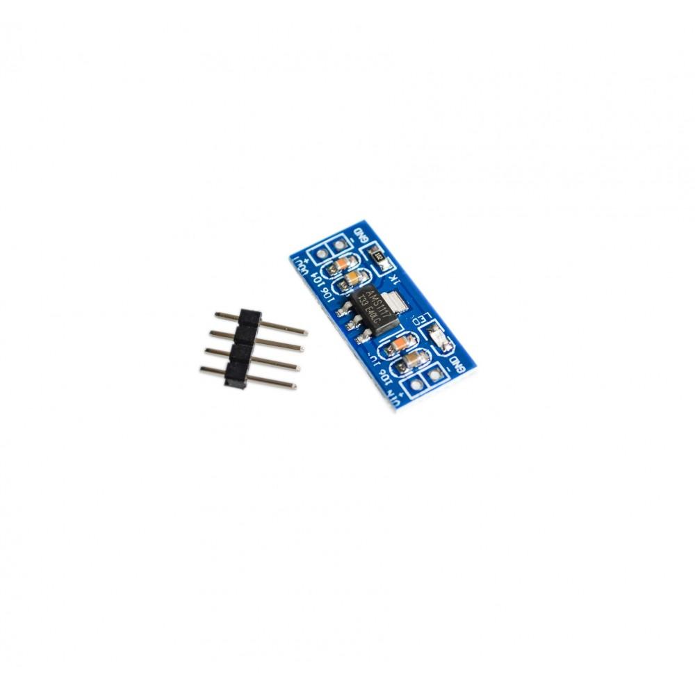 AMS1117-3.3V Spanningsregelaar Module - Losse headers