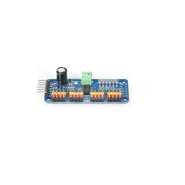 16-kanaals I2C PWM-Servo Controller - PCA9685