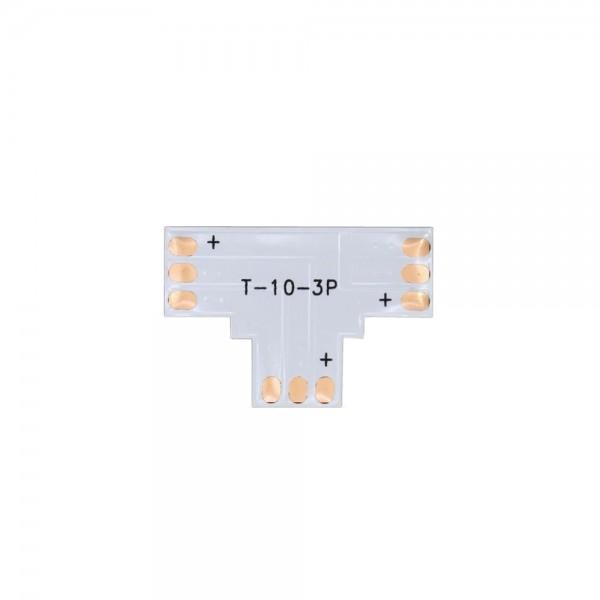 LED Strip T-Koppelstuk - 3p 10mm - WS2811-WS2812B