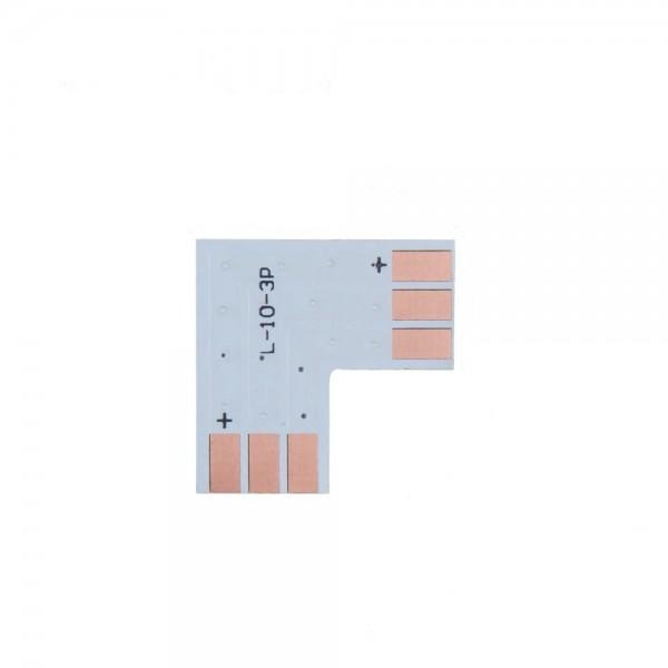 LED Strip L-Koppelstuk - 3p 10mm - WS2811-WS2812B