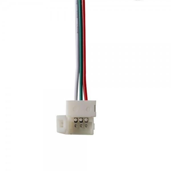 LED Strip Connector met Losse Draden - 3p 10mm - WS2811-WS2812B