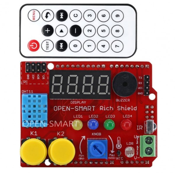 Open-Smart Rich Shield with Remote Control