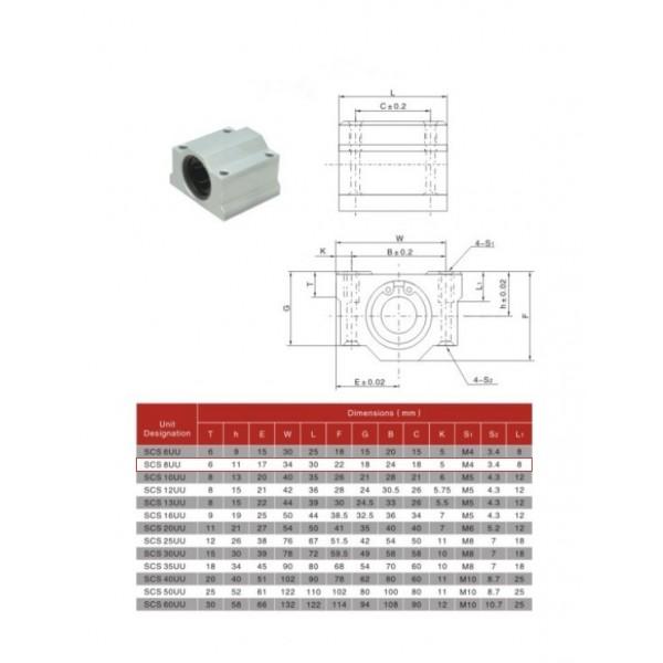 SCS8UU Linear Ball Bearing