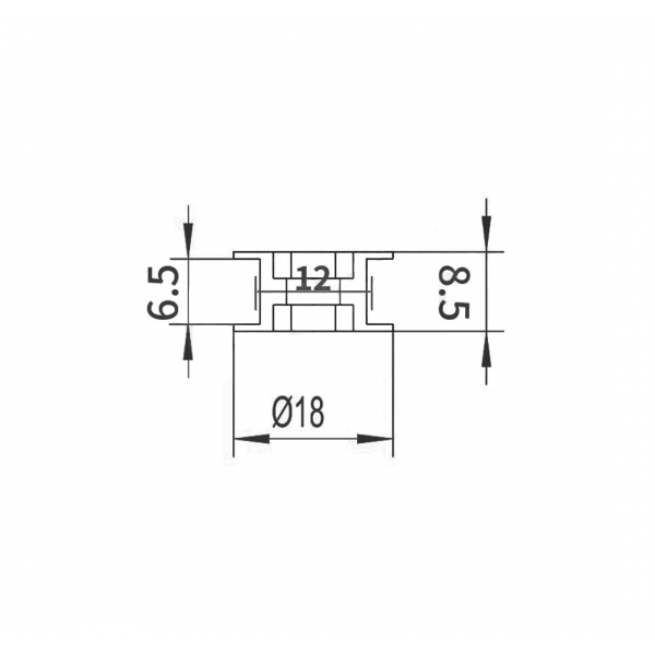 GT2-20 Pulley - Toothless - 3mm axis - With Ball Bearing