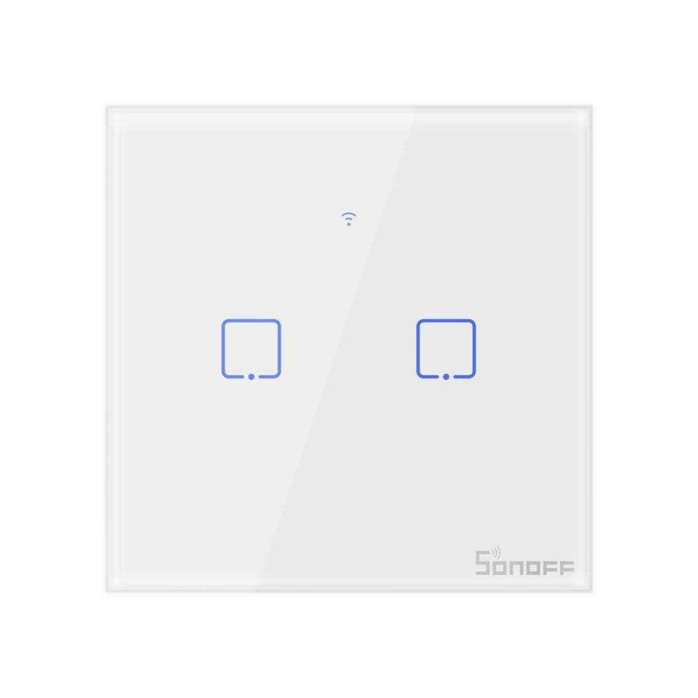 Sonoff T2 EU - 2 Schakelaars - WiFi en 433Mhz RF