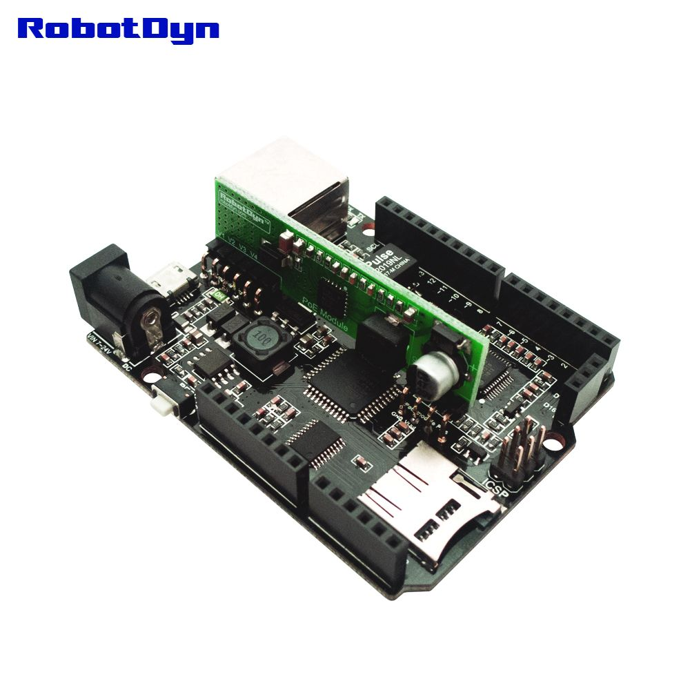 RobotDyn Leonardo ETH V2 met W5500 Ethernet - Active PoE