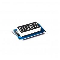 Segment Display Module - 4 Character - Clock - Red- TM1637 - Mini