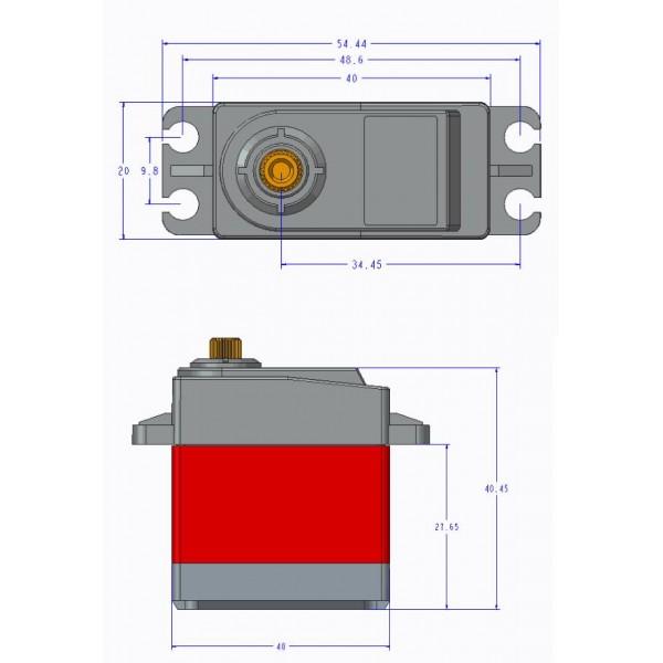 TD-8125MG Waterproof Digital Servo - 25kg - Continuous
