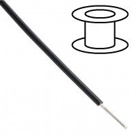 Alpha Wire - Single core - Solid - Ø1.5mm 0.33mm2 - Black - 30m
