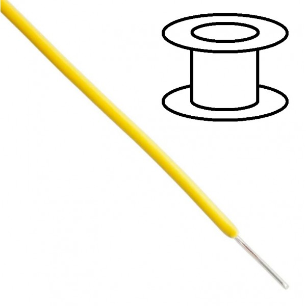 Alpha Wire - Single core - Solid - Ø1.5mm 0.33mm2 - Yellow - 30m