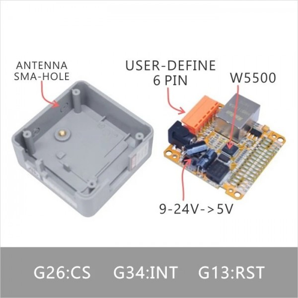 M5STACK LAN W5500 Base - for M5Core