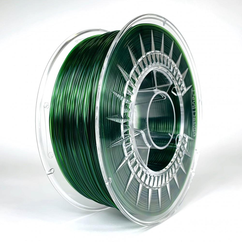 Devil Design PETG Filament 1.75mm - 1kg - Green Transparent