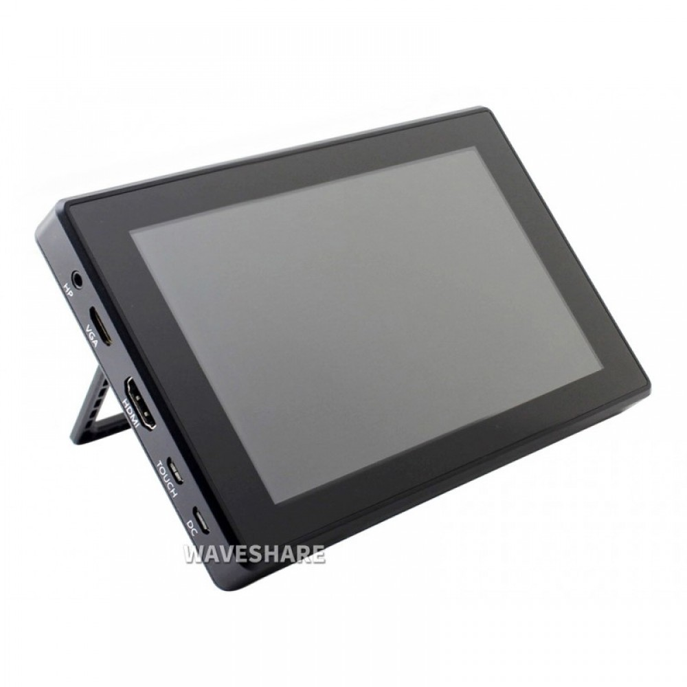 Waveshare 7 inch HDMI IPS-TFT-LCD (H) Display 1024*600 pixels met Touchscreen en Behuizing - Raspberry Pi Compatible