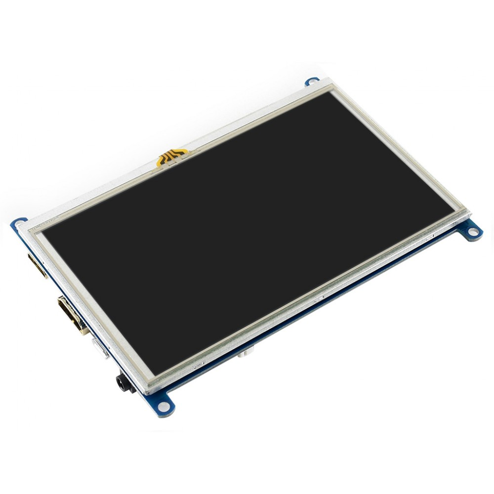 Waveshare 5 inch HDMI TFT-LCD (G) Display 800*480 pixels with Touchscreen - Raspberry Pi Compatible