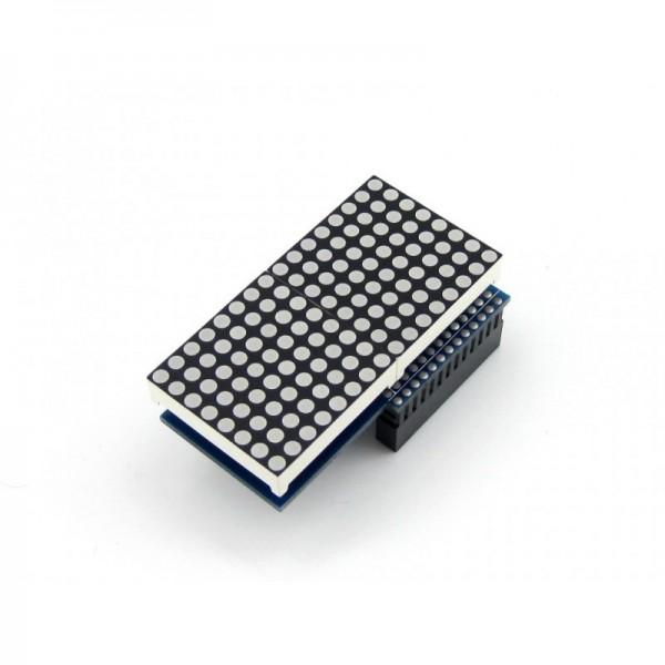 Waveshare RPi LED Matrix - 16x8 - Red - Raspberry Pi Compatible