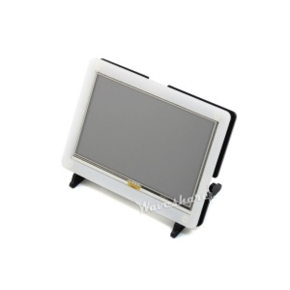 Waveshare 5 inch HDMI TFT-LCD Display 800*480 pixels met Touchscreen en Behuizing - Raspberry Pi Compatible